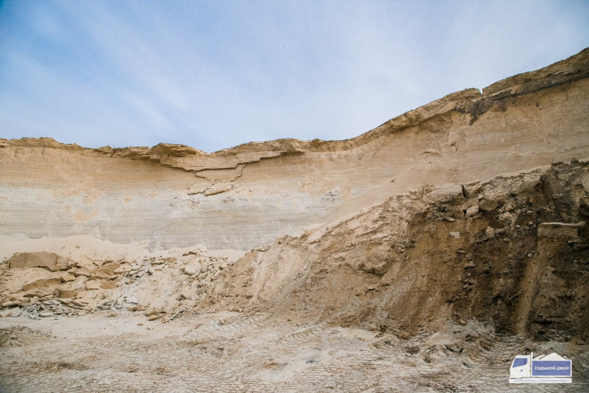 Песок карьерный сухоройный